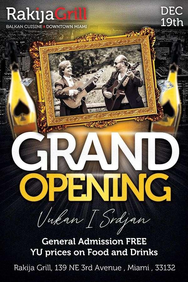Rakija Grill Grand Opening