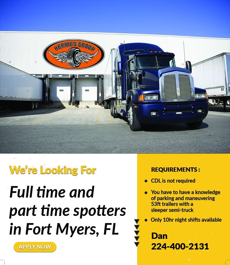 Full time and part time spotters in Fort Myers, FL