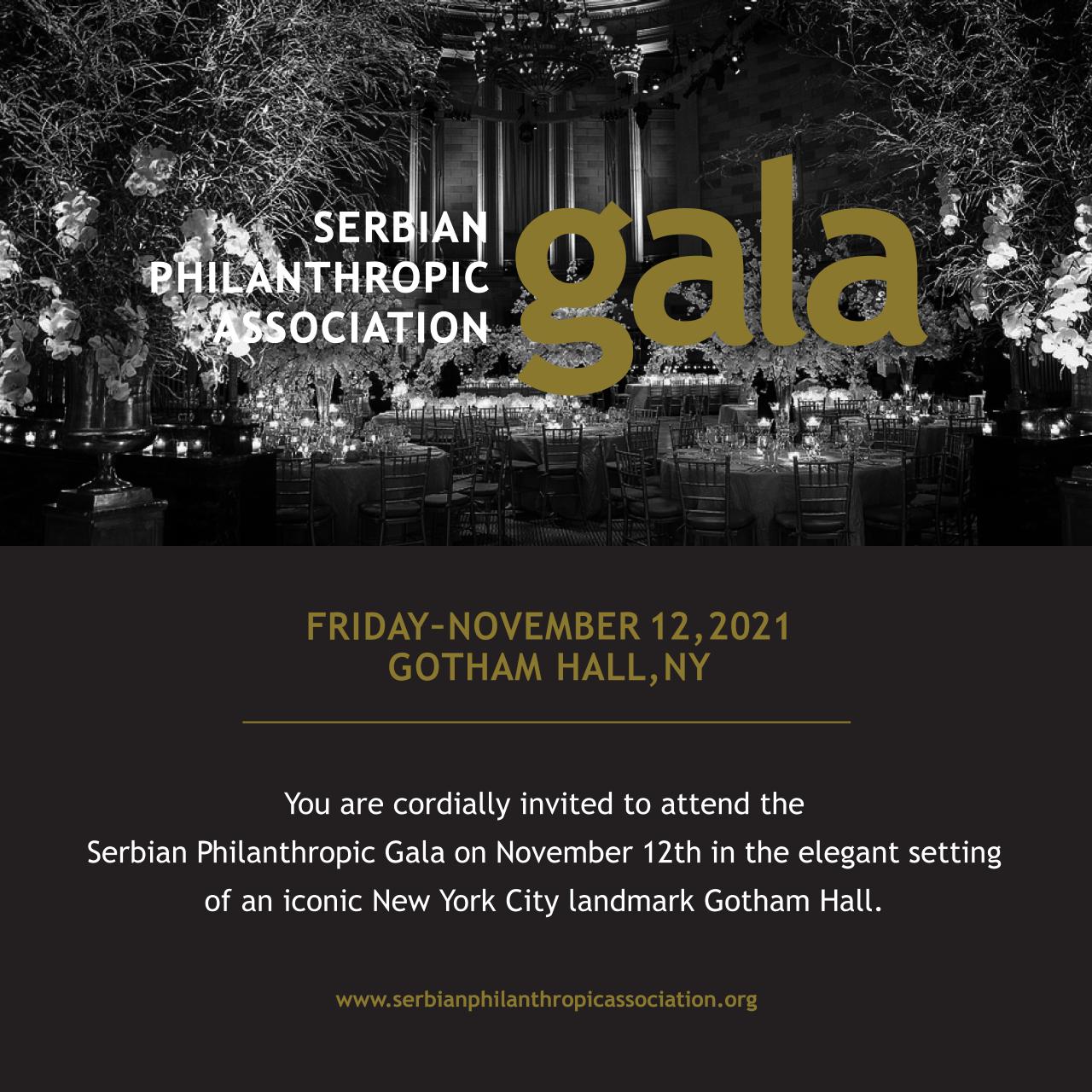 Drugo Srpsko filantropsko gala veče u Njujorku